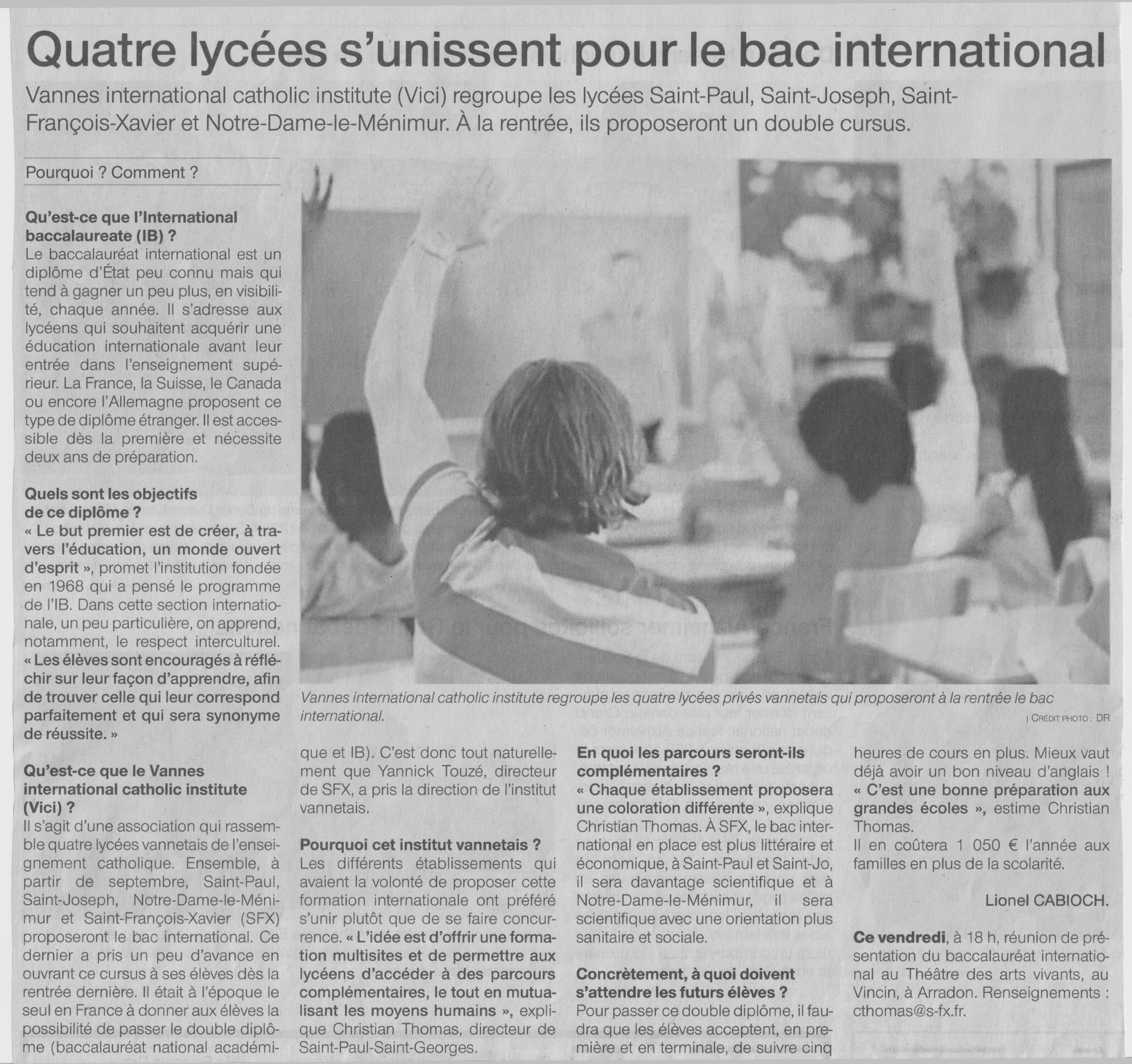 Ouest-France 15 mars 2019
