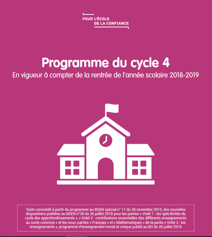 programmes cycle 4
