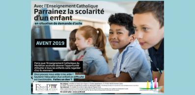 Campagne de l' Avent 2019 :  parrainez la scolarité d'un élève en situation de demande d'asile