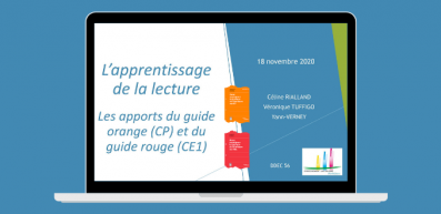 Animations pédagogiques en visioconférence : l'apprentissage de la lecture au CP et au CE1