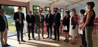 Le Président du Conseil départemental en visite au collège St Julien de Malestroit